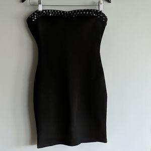 Studded Little Black Dress
